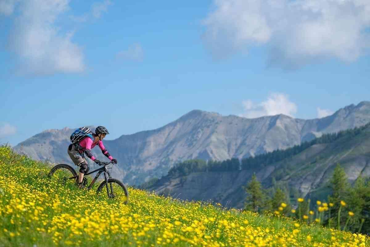 Trail durchs Blumenmeer