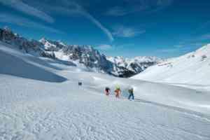Einsame Skitouren