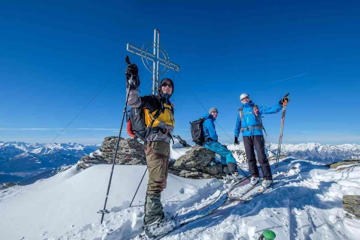 Gipfel auf Skitour