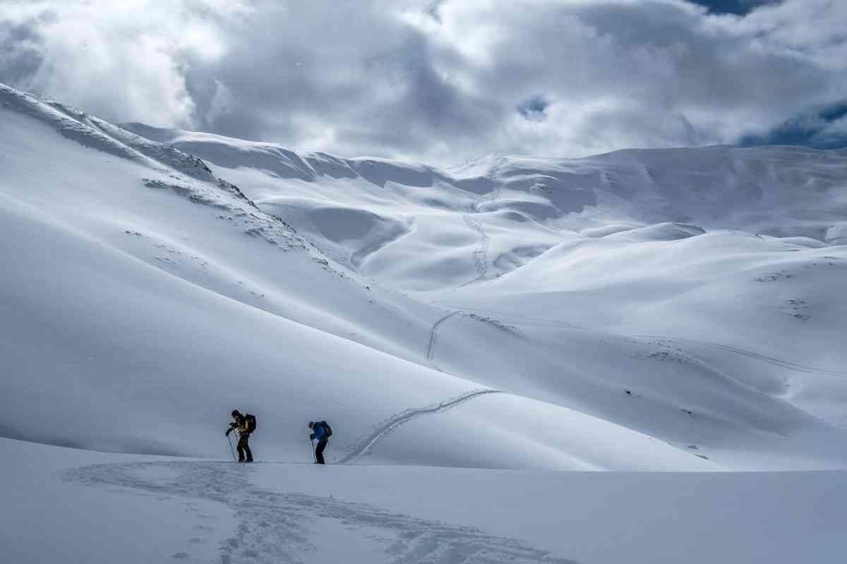 Skitourengeher am Gegenanstieg