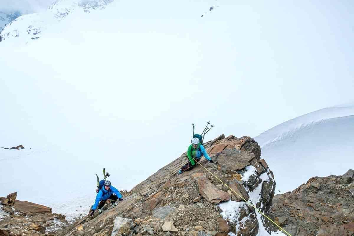 Kletterpassage auf Skihochtour