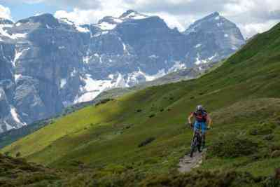 Mountainbiker am Trail
