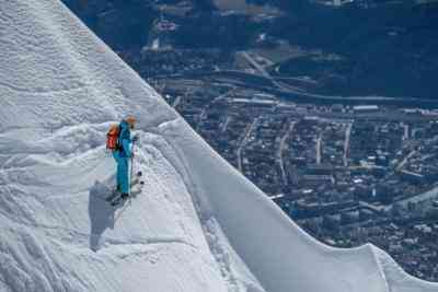 Skifahrerin auf der Nordkette