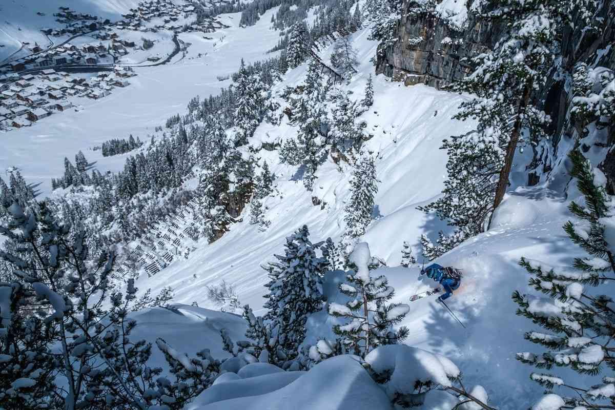 Tiefschnee oberhalb Lech