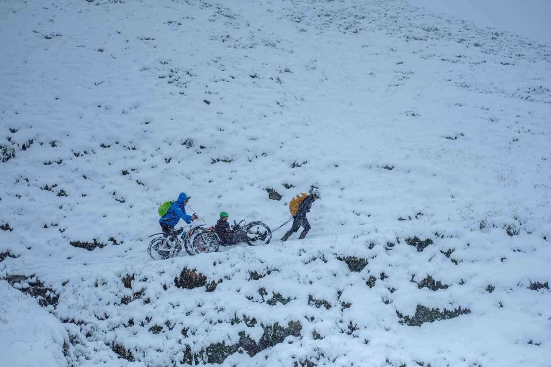 Geiseljoch bei Schnee
