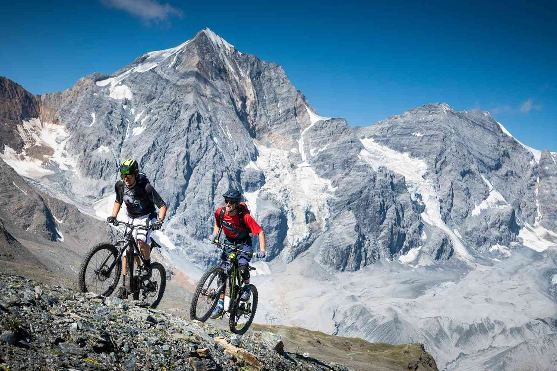 Uphill aufs Madritschjoch