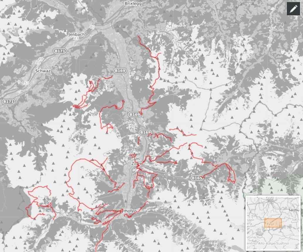 Zillertal Enduro Karte