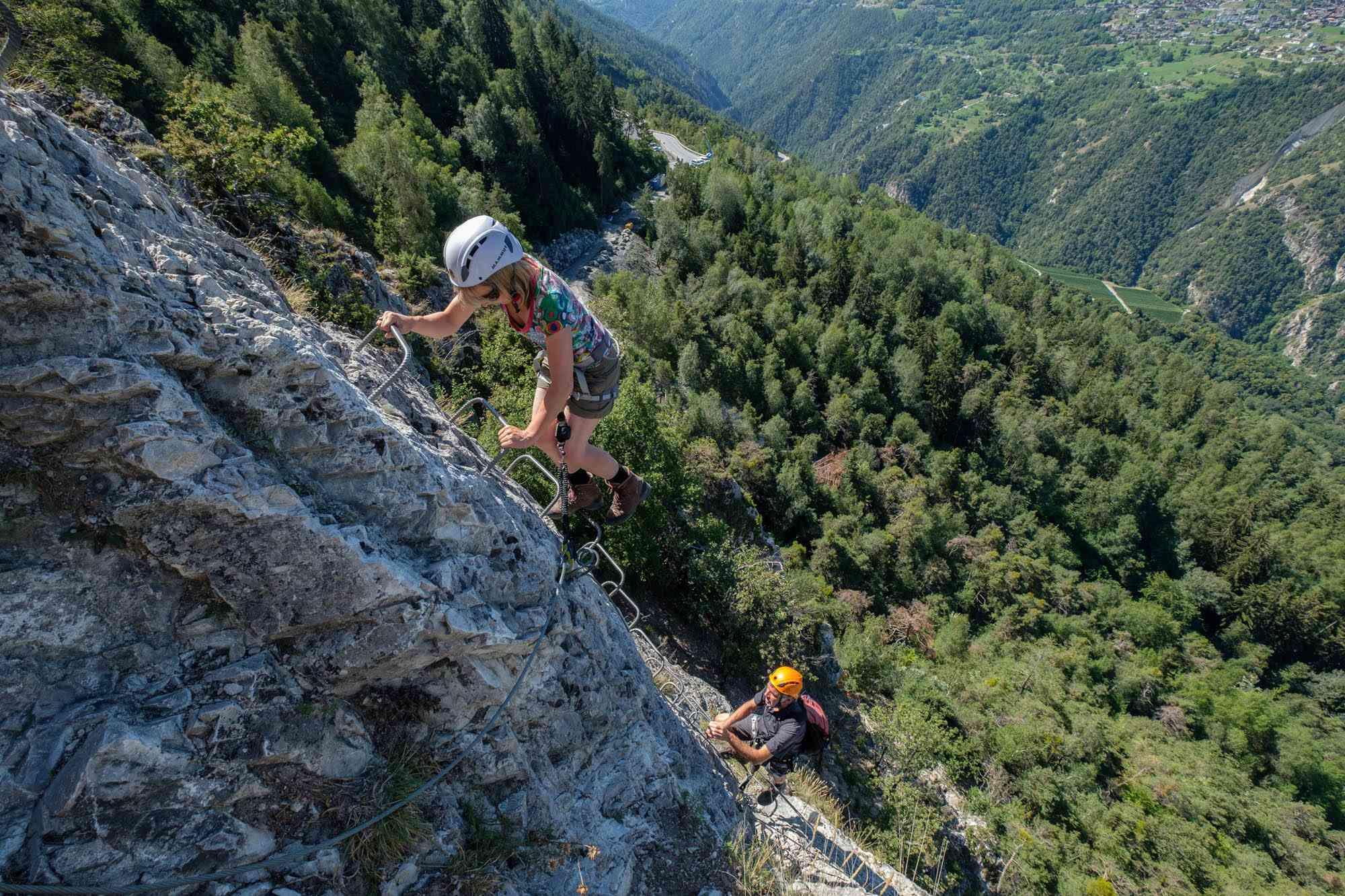 Geführter Klettersteig