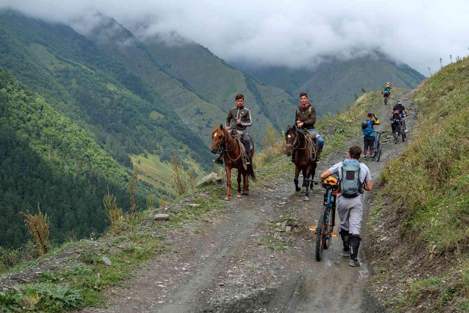 Gegenverkehr in Georgien